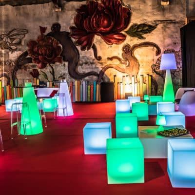 Location de poufs pour événement Toulouse - Cubo 40 - event Groupama Mars 2017