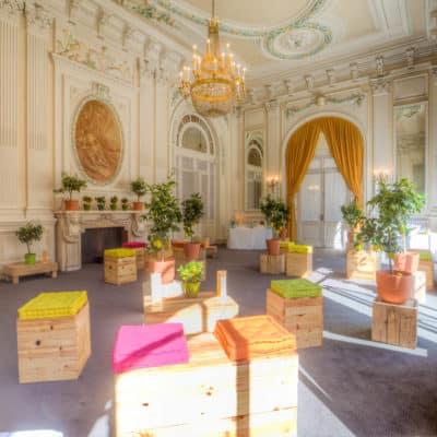 Location de poufs événementiels Toulouse - Pouf Authentic by PSB Lounge