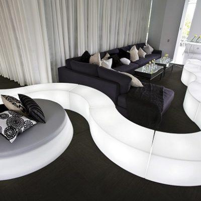 Location de banc événementiel Toulouse - Banc Snake designed PSB Lounge