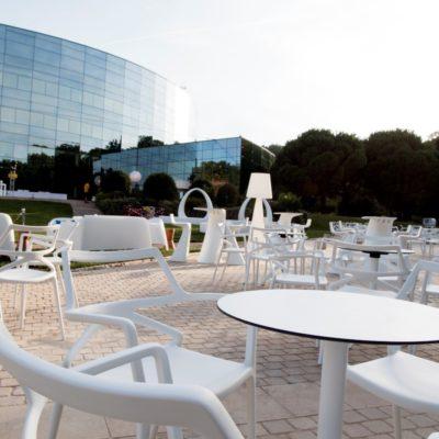 Table de réception Marisol Rond en extérieur